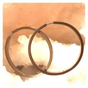 Steelx silver hoop earrings